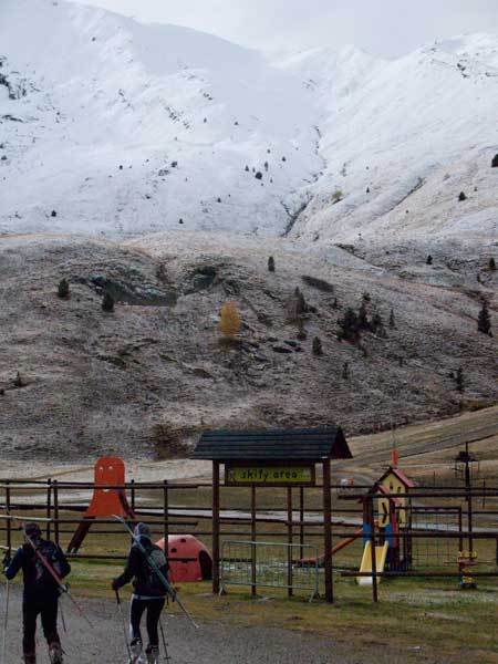 Primeros aficionados al esquí de travesía, Cerler 5 de noviembre