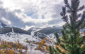 Primera nevada en Cerler