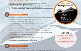 Programa y horarios Gran Trail Aneto-Posets 2015