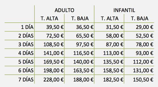 precios cerler 2013