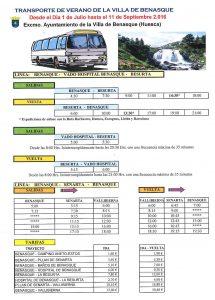 horarios precios autobus besurta 2016